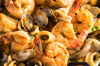 Roasted Red Pepper Shrimp & Mussels