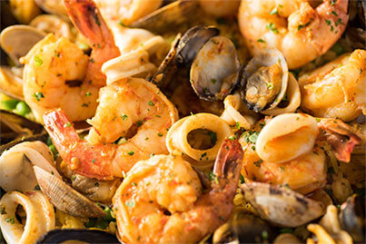 Roasted red pepper shrimp & mussels 2