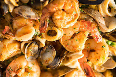 Roasted red pepper shrimp & mussels 3